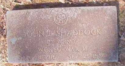 SHADDOCK (VETERAN WWII), JOHN B - Dallas County, Arkansas | JOHN B SHADDOCK (VETERAN WWII) - Arkansas Gravestone Photos