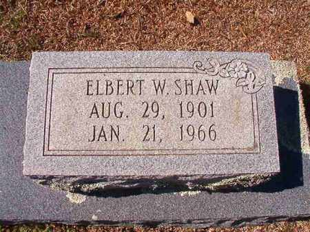 SHAW, ELBERT W - Dallas County, Arkansas | ELBERT W SHAW - Arkansas Gravestone Photos