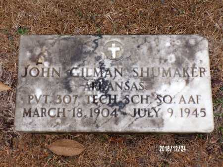 SHUMAKER (VETERAN), JOHN GILMAN - Dallas County, Arkansas | JOHN GILMAN SHUMAKER (VETERAN) - Arkansas Gravestone Photos