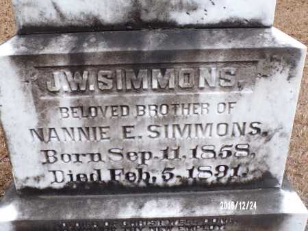 SIMMONS, J W - Dallas County, Arkansas | J W SIMMONS - Arkansas Gravestone Photos