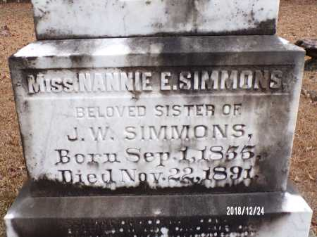 SIMMONS, NANNIE - Dallas County, Arkansas | NANNIE SIMMONS - Arkansas Gravestone Photos