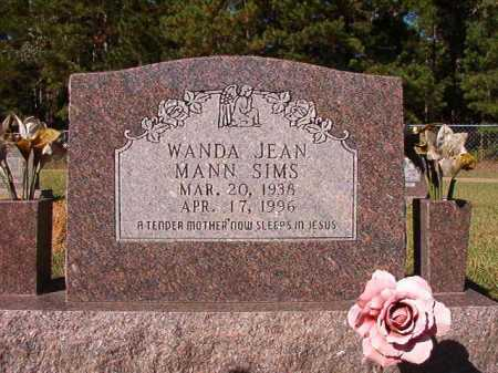 MANN SIMS, WANDA JEAN - Dallas County, Arkansas | WANDA JEAN MANN SIMS - Arkansas Gravestone Photos