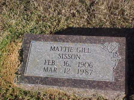 GILL SISSON, MATTIE - Dallas County, Arkansas | MATTIE GILL SISSON - Arkansas Gravestone Photos