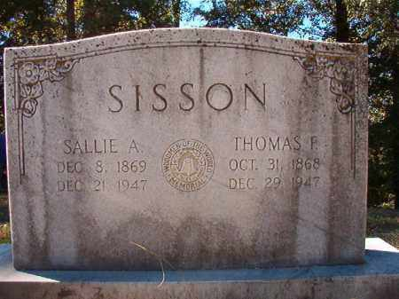 SISSON, SALLIE A - Dallas County, Arkansas | SALLIE A SISSON - Arkansas Gravestone Photos