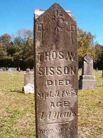 SISSON, THOMAS W - Dallas County, Arkansas | THOMAS W SISSON - Arkansas Gravestone Photos