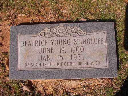 SLINGLUFF, BEATRICE - Dallas County, Arkansas | BEATRICE SLINGLUFF - Arkansas Gravestone Photos