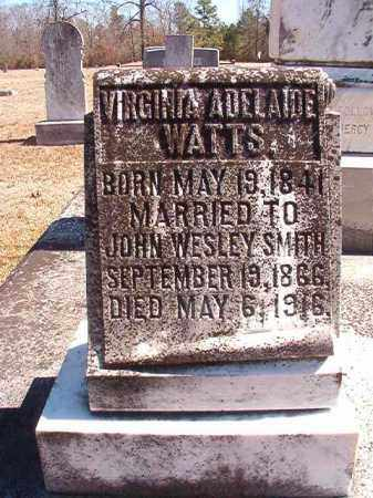 WATTS SMITH, VIRGINIA ADELAIDE - Dallas County, Arkansas | VIRGINIA ADELAIDE WATTS SMITH - Arkansas Gravestone Photos