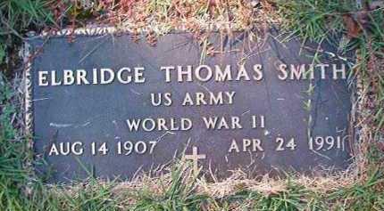 SMITH (VETERAN WWII), ELBRIDGE THOMAS - Dallas County, Arkansas | ELBRIDGE THOMAS SMITH (VETERAN WWII) - Arkansas Gravestone Photos