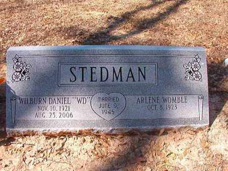 STEDMAN, WILBURN DANIEL - Dallas County, Arkansas | WILBURN DANIEL STEDMAN - Arkansas Gravestone Photos