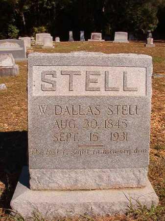 STELL, WILLIAM DALLAS (BIO) - Dallas County, Arkansas | WILLIAM DALLAS (BIO) STELL - Arkansas Gravestone Photos