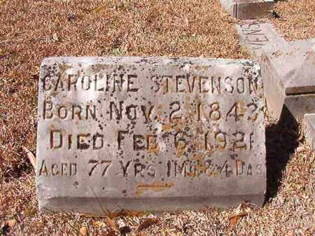 STEVENSON, CAROLINE - Dallas County, Arkansas | CAROLINE STEVENSON - Arkansas Gravestone Photos
