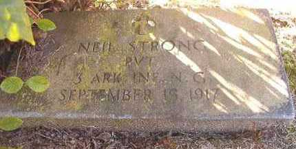 STRONG (VETERAN), NEIL - Dallas County, Arkansas | NEIL STRONG (VETERAN) - Arkansas Gravestone Photos
