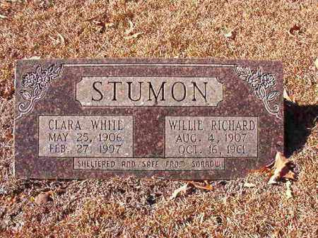 WHITE STUMON, CLARA - Dallas County, Arkansas | CLARA WHITE STUMON - Arkansas Gravestone Photos