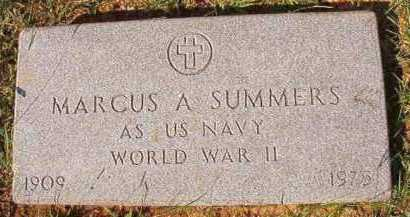 SUMMERS (VETERAN WWII), MARCUS A - Dallas County, Arkansas | MARCUS A SUMMERS (VETERAN WWII) - Arkansas Gravestone Photos