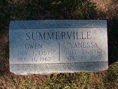 SUMMERVILLE, GWEN - Dallas County, Arkansas | GWEN SUMMERVILLE - Arkansas Gravestone Photos