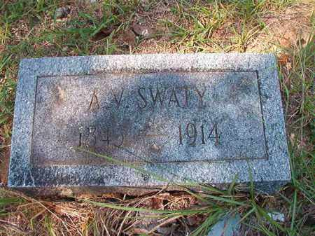SWATY, A V - Dallas County, Arkansas | A V SWATY - Arkansas Gravestone Photos