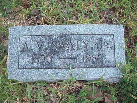 SWATY, JR, A V - Dallas County, Arkansas | A V SWATY, JR - Arkansas Gravestone Photos