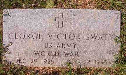 SWATY (VETERAN WWII), GEORGE VICTOR - Dallas County, Arkansas | GEORGE VICTOR SWATY (VETERAN WWII) - Arkansas Gravestone Photos
