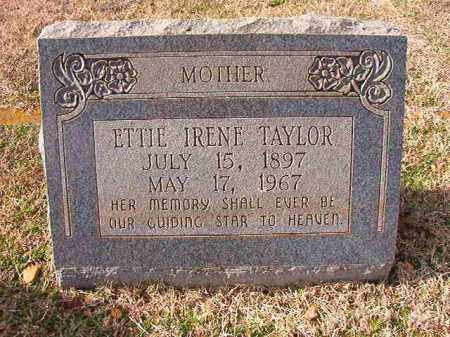 TAYLOR, ETTIE IRENE - Dallas County, Arkansas | ETTIE IRENE TAYLOR - Arkansas Gravestone Photos