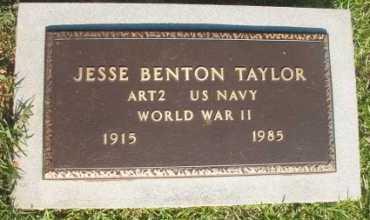 TAYLOR (VETERAN WWII), JESSE BENTON - Dallas County, Arkansas | JESSE BENTON TAYLOR (VETERAN WWII) - Arkansas Gravestone Photos