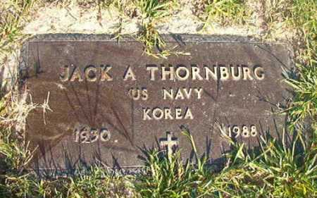 THORNBURG (VETERAN KOR), JACK A - Dallas County, Arkansas | JACK A THORNBURG (VETERAN KOR) - Arkansas Gravestone Photos