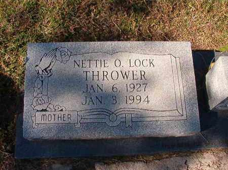 LOCK THROWER, NETTIE O - Dallas County, Arkansas | NETTIE O LOCK THROWER - Arkansas Gravestone Photos