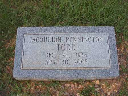 TODD, JACQULION - Dallas County, Arkansas | JACQULION TODD - Arkansas Gravestone Photos