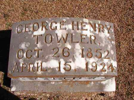 TOWLER, GEORGE HENRY - Dallas County, Arkansas | GEORGE HENRY TOWLER - Arkansas Gravestone Photos