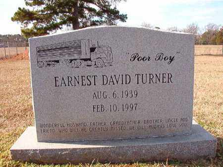 TURNER, EARNEST DAVID - Dallas County, Arkansas | EARNEST DAVID TURNER - Arkansas Gravestone Photos