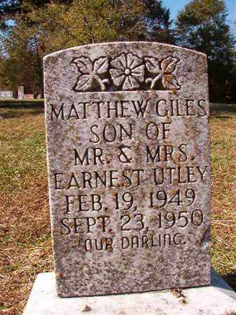 UTLEY, MATTHEW GILES - Dallas County, Arkansas | MATTHEW GILES UTLEY - Arkansas Gravestone Photos