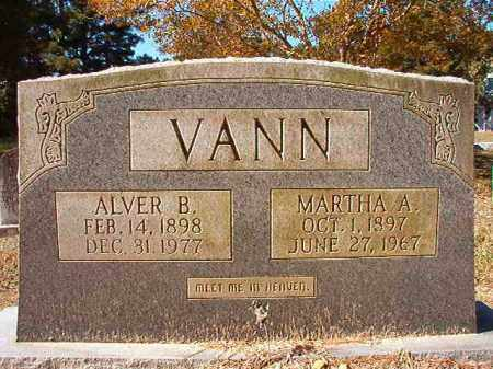 VANN, ALVER B - Dallas County, Arkansas | ALVER B VANN - Arkansas Gravestone Photos