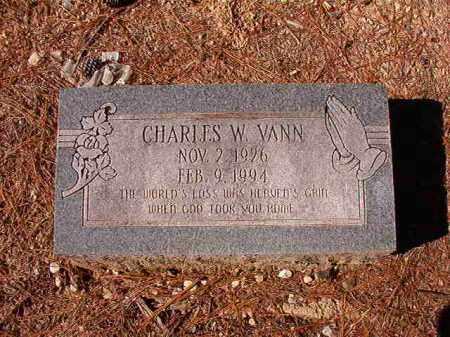 VANN, CHARLES W - Dallas County, Arkansas   CHARLES W VANN - Arkansas Gravestone Photos