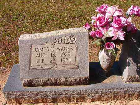 WAGES, JAMES D - Dallas County, Arkansas | JAMES D WAGES - Arkansas Gravestone Photos