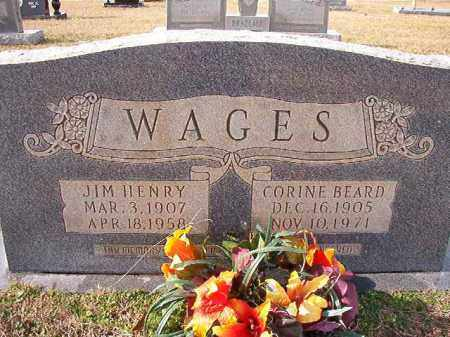 WAGES, JIM HENRY - Dallas County, Arkansas | JIM HENRY WAGES - Arkansas Gravestone Photos