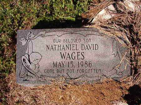 WAGES, NATHANIEL DAVID - Dallas County, Arkansas | NATHANIEL DAVID WAGES - Arkansas Gravestone Photos