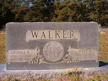 WALKER, KATE A - Dallas County, Arkansas | KATE A WALKER - Arkansas Gravestone Photos