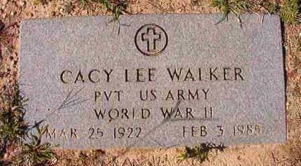 WALKER (VETERAN WWII), CACY LEE - Dallas County, Arkansas | CACY LEE WALKER (VETERAN WWII) - Arkansas Gravestone Photos