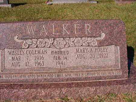 WALKER, WESLEY COLEMAN - Dallas County, Arkansas | WESLEY COLEMAN WALKER - Arkansas Gravestone Photos
