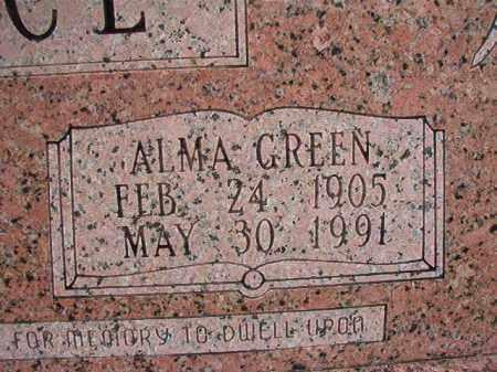 GREEN WALLACE, ALMA (CLOSEUP) - Dallas County, Arkansas | ALMA (CLOSEUP) GREEN WALLACE - Arkansas Gravestone Photos