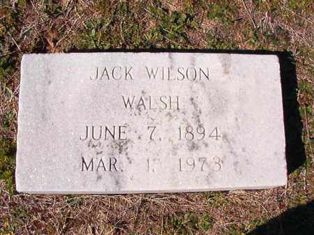 WALSH, JACK WILSON - Dallas County, Arkansas | JACK WILSON WALSH - Arkansas Gravestone Photos