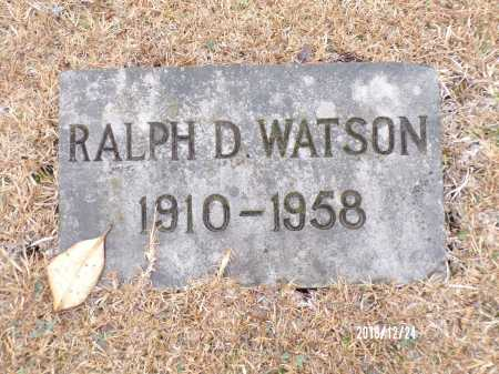 WATSON, RALPH D - Dallas County, Arkansas | RALPH D WATSON - Arkansas Gravestone Photos