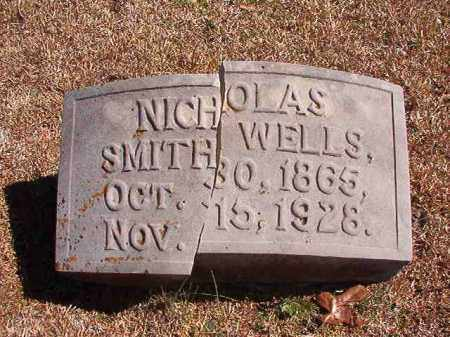 WELLS, NICHOLAS SMITH - Dallas County, Arkansas | NICHOLAS SMITH WELLS - Arkansas Gravestone Photos