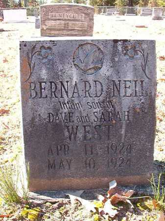 WEST, BERNARD NEIL - Dallas County, Arkansas | BERNARD NEIL WEST - Arkansas Gravestone Photos