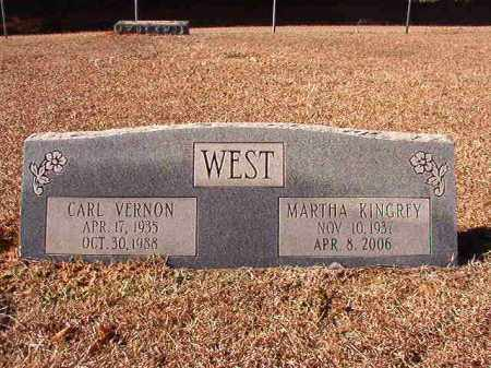 WEST, CARL VERNON - Dallas County, Arkansas | CARL VERNON WEST - Arkansas Gravestone Photos