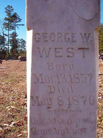 WEST, GEORGE W - Dallas County, Arkansas | GEORGE W WEST - Arkansas Gravestone Photos