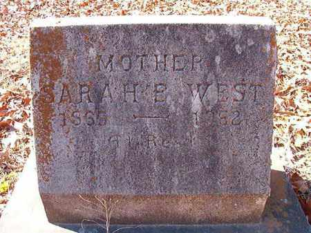WEST, SARAH B - Dallas County, Arkansas | SARAH B WEST - Arkansas Gravestone Photos