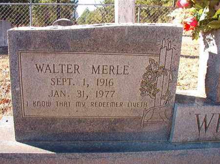 WHITE, WALTER MERLE - Dallas County, Arkansas | WALTER MERLE WHITE - Arkansas Gravestone Photos