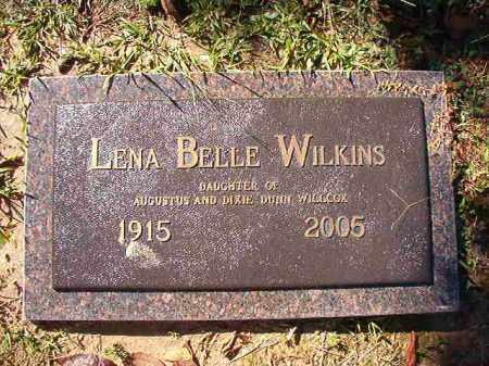WILLCOX WILKINS, LENA BELLE - Dallas County, Arkansas | LENA BELLE WILLCOX WILKINS - Arkansas Gravestone Photos