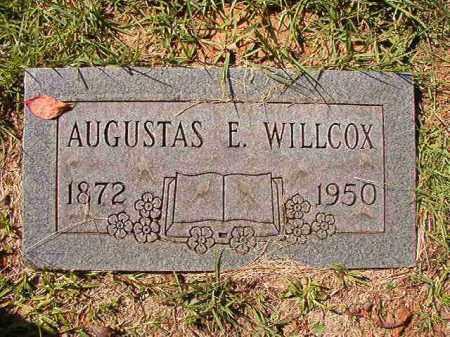 WILLCOX, AUGUSTAS E - Dallas County, Arkansas | AUGUSTAS E WILLCOX - Arkansas Gravestone Photos