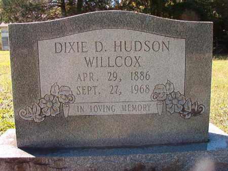 HUDSON WILLCOX, DIXIE D - Dallas County, Arkansas | DIXIE D HUDSON WILLCOX - Arkansas Gravestone Photos